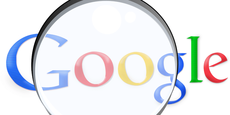 Beitragsbild Google Logo Lupe, noindex wird ab 1. September eingestellt