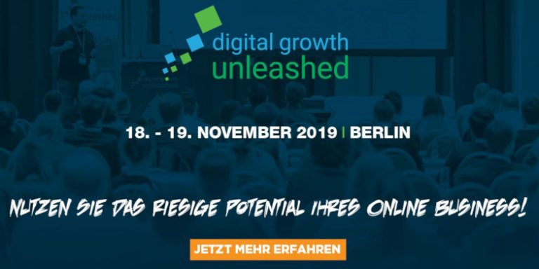 Digital Growth Unleashed Teaser, Online Marketing Konferenz 18 bis 19 November 2019 in berlin