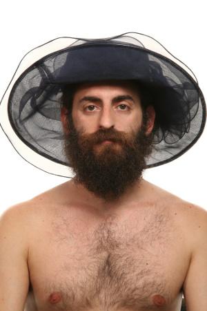 Mann mit Hochzeitshut Black Hat